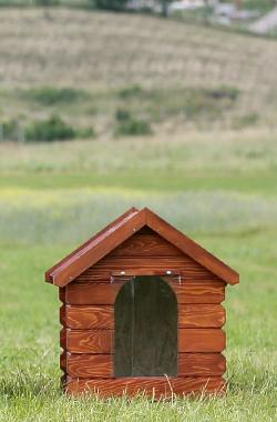 cusca de caine medie classica cu acoperis inchis